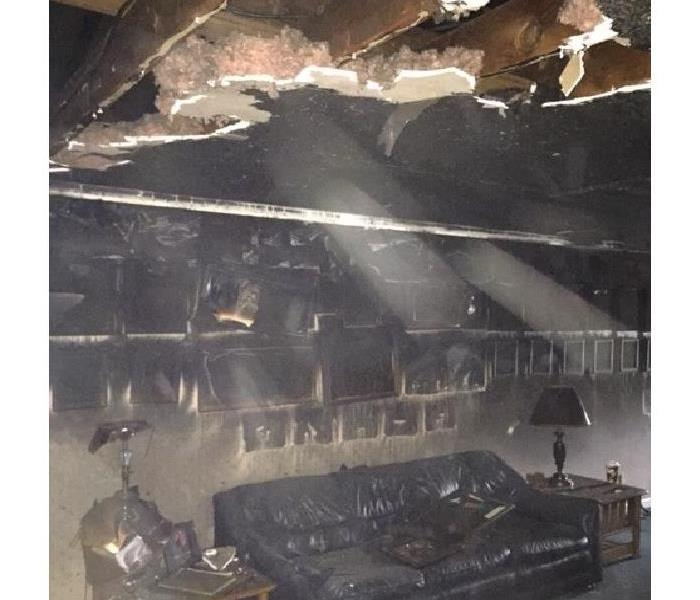 Fire damage in local area