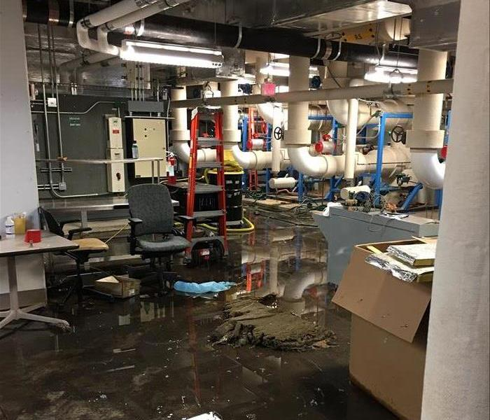 Water Damage Basement Water Damage at a Commercial Building